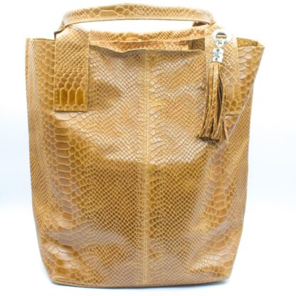 Bolso india serpiente camel